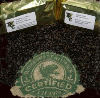 Certified Rainforest Alliance coffees