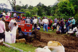 Workers at Hacienda La Amistad in Costa Rica
